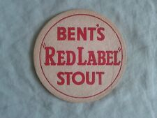 """1951  BENTS BREWERY – """"RED LABEL STOUT – BEER MAT BBCS No. 2"""