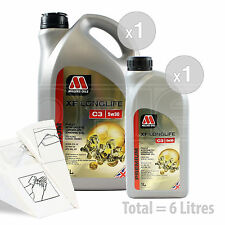 Car Engine Oil Service Kit / Pack 6 LITRES Millers XF Longlife C3 5w-30 6L