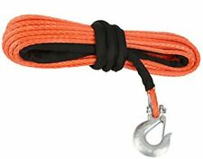 New listing Synthetic Winch Rope with HookWinch Line Cable Rope with Protective Sleeve fo.