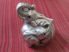 Vintage Arthur Court Designs*Mom And Baby Elephant*Paper Weight*Handcrafted
