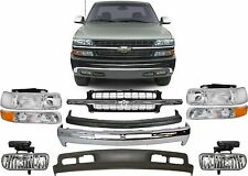 Replacement Front Bumper Combo For 1999-2002 Chevrolet Silverado 1500 New USA