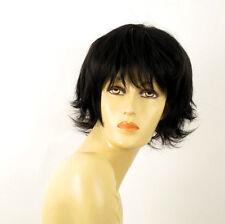 wig for women 100% natural hair black ref OLIVIA 1B PERUK