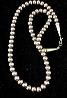 """Native American Navajo Pearls 7mm Sterling Silver Bead Necklace 24"""" Sale  391"""