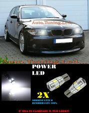 LUCI POSIZIONE BMW SERIE 1 E87 E82 E81 E88 CANBUS T10 BIANCO 6 LED SUPER QUALITA