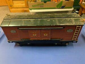 Lionel Standard Gauge - 214 Terra Cotta/Green Boxcar