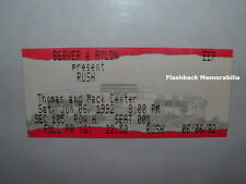 RUSH / MR. BIG 1991 Concert Ticket Stub LAS VEGAS Thomas & Mack GEDDY LEE Rare
