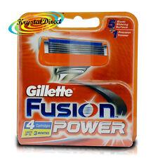 Gillette Fusion Power Repuesto Para Pack De 4 Cartuchos Para Afeitar
