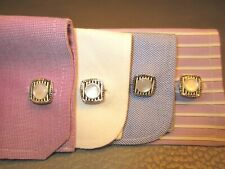 Art Deco Circa 1925 Black & White Stripe Snap a Part Cuff Links Snaps Snapper