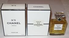 Vintage Perfume Bottle Chanel No 5 Bottle/Boxes 1 OZ-  1980s - Sealed  3/4+ Full