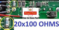 20 x GHD Mk4 R8 Melf Resistor 100 Ohm (hair straightener repair)