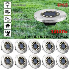 8/12LED Solarleuchte Bodenstrahler Außen IP65 Gartenleuchten Garten Solarlampen