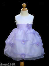 Toddler Pageant, Easter,Party Girls Flower Dress, Lilac/White, Size: 2 (2 year)