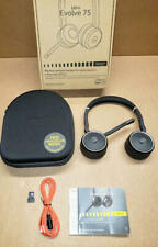 Jabra Evolve 75 Uc Stereo Wireless Bluetooth Headset Including Link 370