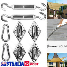 8X 304 5mm Stainless Steel Sun Shade Sail Hardware Kit Accessory for Triangle