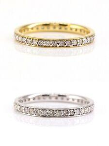 10K Gold Eternity Band Ring 0.52 CT Natural Diamond