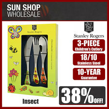 100% Genuine! STANLEY ROGERS Children's 3 Piece Cutlery Set Insect! RRP $39.95!
