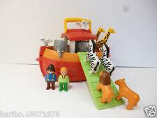 👿 Jouet Playmobil Bateau 123 L'Arche De Noé Transportable Réf: 6765