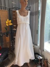 VICTORIA JANE CREAM FAIRY STYLE WEDDING DRESS WITH MATCHING JACKET SIZE 14 UK