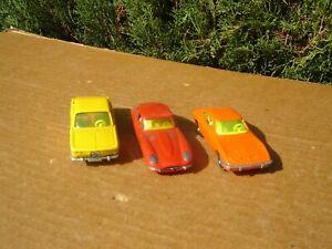 SIKU MODELL: LOT DE 3 MODELES: JAGUAR E / OPEL GT / BMW 2000CS