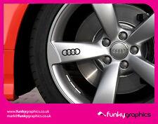 Anillos de Audi símbolo Logo Aleación Rueda Calcomanías Pegatinas Gráficos x5 En Vinilo Negro