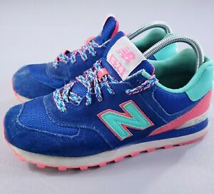 NEW BALANCE 574 Running Shoes Womens Size 8 Suede Athletic Training Sneakers