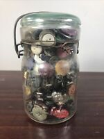 Antique Jar full of Vintage Buttons all shapes and sizes Lot Group