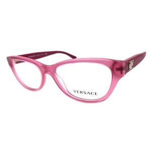 New Versace VE3204 Eyeglasses Color 5121 Matte Transparent Pink Size 51MM