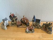 Lot of 6 David Winter Cottages,Hand Made-Painted, Great Britain