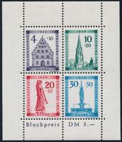 FZ BADEN, MiNr. Block 1 A IV, tadellos postfrisch, Befund Straub, Mi. 300,-