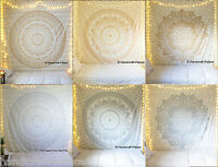 Queen Ombre Mandala Tapestry Hippie Wall Hanging Throw Decor Bohemian Bedspread