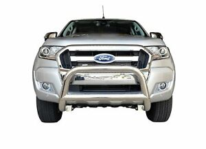 """Chrome Nudge Bar S/S 304 3"""" Grille Bumper Guard for Ford Ranger 11-18 PX1 PX2"""