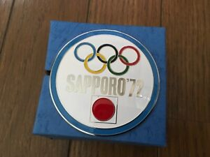 1972 SAPPORO OLYMPIC PIN BADGE CAR FRONT GRILLE BIG PINS