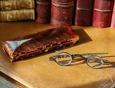 RARE: Antique Faux Tortoiseshell Spectacles Glasses in Matching Case ETUI