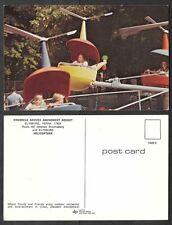 Old Pennsylvania Postcard - Knoebels Grove Amusement Park - Helicopter Ride