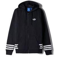 Adidas STRTGRP Hoodie Men's Sherpa Lined Jacket Black Full Zip Thick Winter