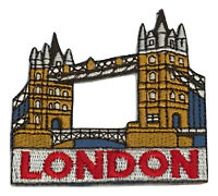 "Tower Bridge London England Souvenir Patch 2 1/2"" Embroidered Iron On Appliques"