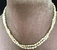 clasp twin stranded real pearl necklace Vintage Art Deco delightful 9 ct gold