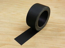 "2"" Floor Stage Show Audio Cloth Gaff Gaffer Black Gaffers Tape 75' 25 yd"
