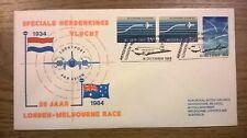 Netherlands speciale herdenkingsvlucht Londen-Melbourne race 1934 - 1984