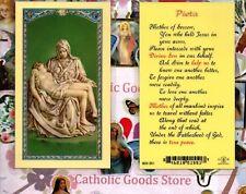 Pieta - Mother of Sorrow Prayer - Laminated  Holy Card