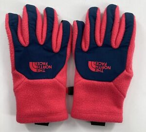 The North Face Gloves, Youth/ Junior Size Small, Hot Pink Fleece/ Navy