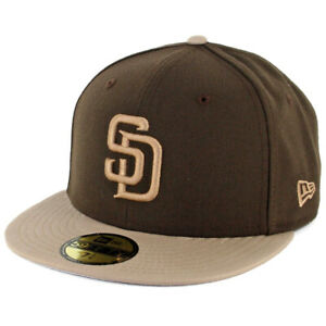 New Era 59Fifty San Diego SD Padres Fitted Hat (Brown/Khaki) Men's MLB Cap
