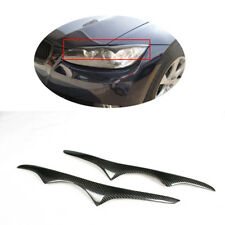 Carbon Fiber Front Head Lamp Cover EyebrowsFor BMW 3 Series E92 E93 M3 Coupe 2D