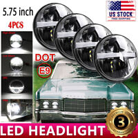 "4pcs 5-3/4"" 5.75"" LED Headlight Hi/Lo beam DRL Round Fit for Lincoln Continental"