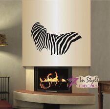 Wall Vinyl Decal Zebra Pattern Stripes Animal Removable Wall Art Sticker 711