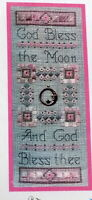 Elizabeth's Designs Bless the Moon Counted cross stitch pattern has Moon Charm
