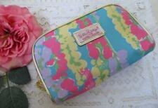 Lilly Pulitzer for Estee Lauder Cosmetic Bag Pouch Floral Dragon Fly Pink Green