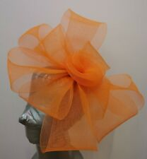 bright orange fascinator headband headpiece wedding party race ascot bridal