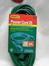 Stanley Power Cord 25 Foot Green Outdoor Extension Cord