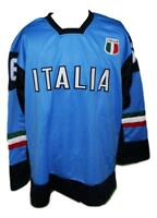 Any Name Number Size Italia Italy Retro Hockey Jersey Blue Zirilli